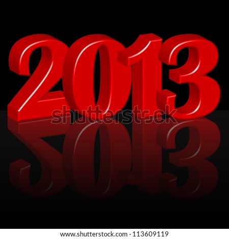 Year 2013 - stock vector