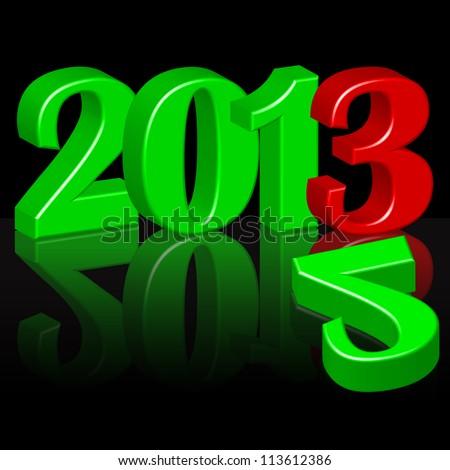 Year 2012-2013 - stock vector