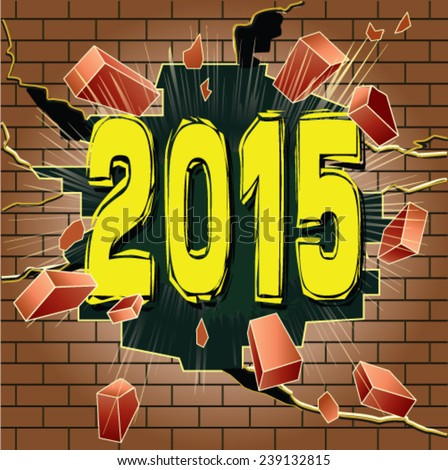 stock-vector-year-breaking-through-brick