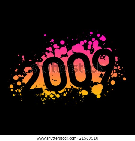 year 2009 illustration #21589510