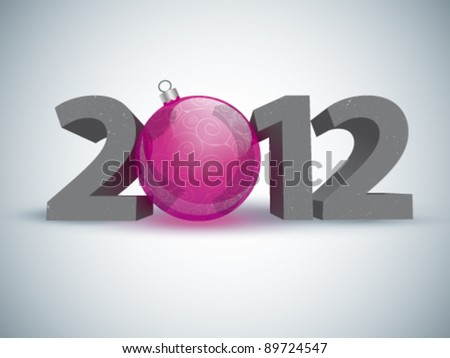 Year 2012 made up of numbers and Christmas ball as zero