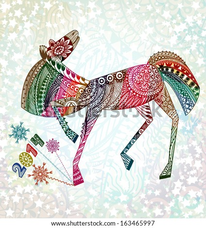 Year of the horse. Happy new year 2014.  EPS 10 - stock vector