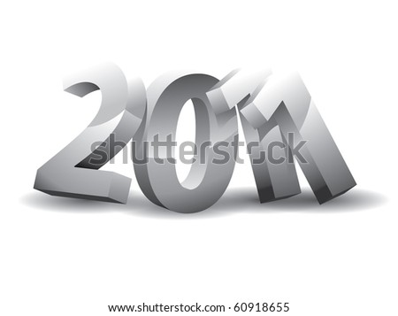 year 2011 on a white background