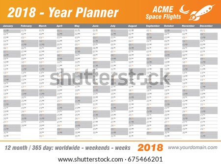 month template 2018