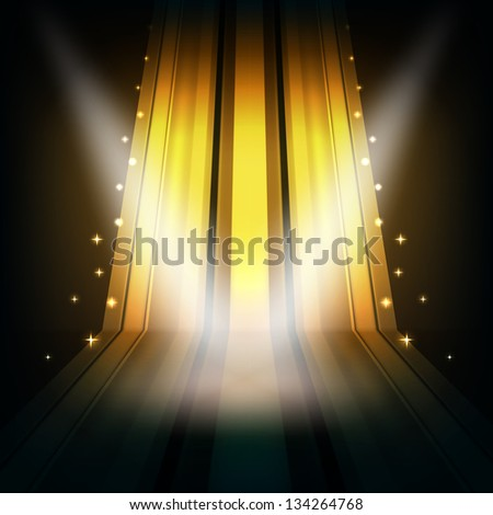 yellow abstract background with spot lights