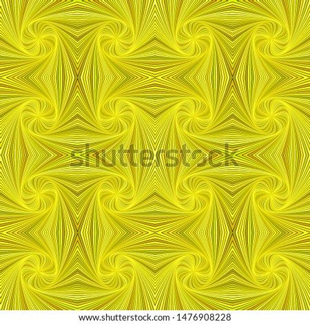 Yellow abstract psychedelic seamless striped swirl pattern background design - vector graphic with swirling rays