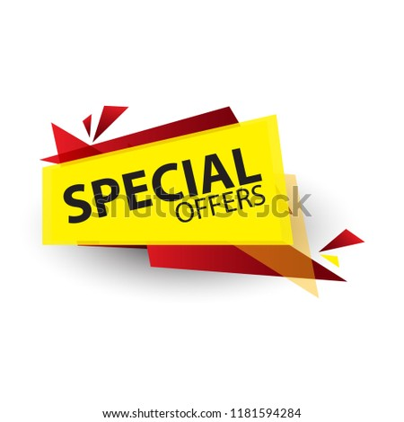 Yellow Abstract Special Offer Vector Illustration Banner Design