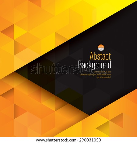 yellow and black abstract