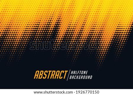 yellow and black diagonal halftone background Foto d'archivio ©