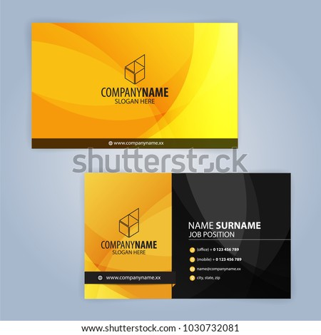 Yellow red and black creative business card design download free yellow and black modern business card template illustration vector 10 colourmoves