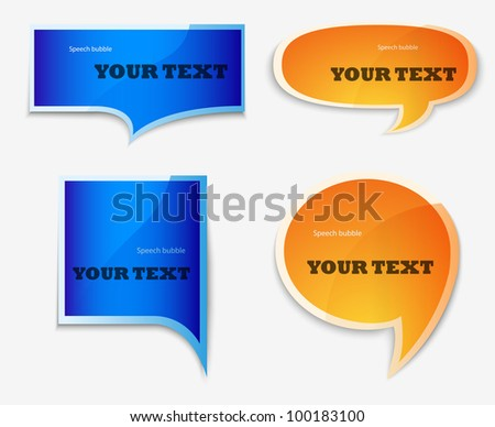 yellow and blue quote speech bubble