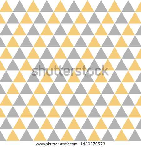Yellow and Gray triangles background pattern, retro triangles, retro pattern, template, grey and yellow background, geometric background