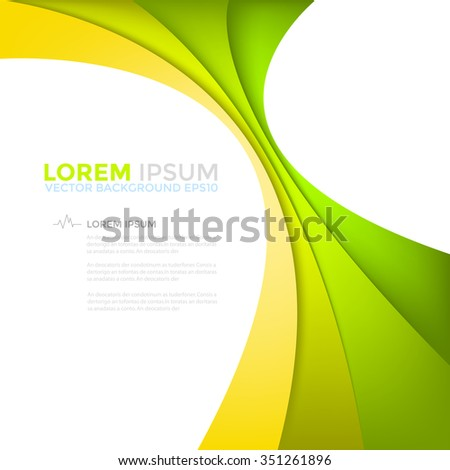 yellow and green line vector