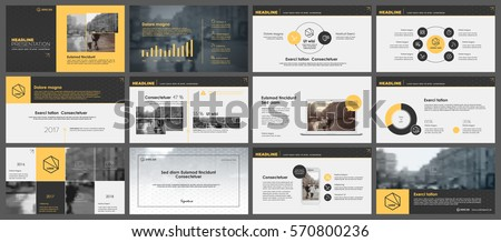yellow and grey elements for