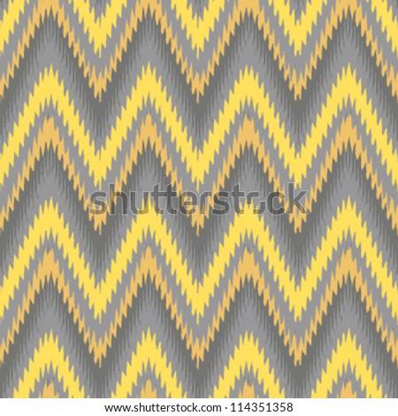 Yellow and grey seamless chevron background pattern