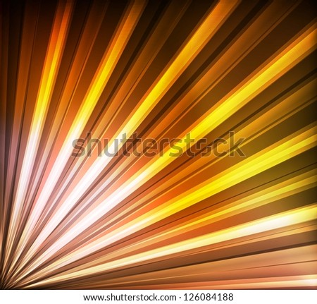 Yellow and orange lines abstract vector background