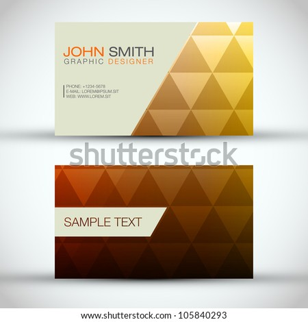 Yellow and Orange Modern Business - Card Set | EPS10 Vector Design