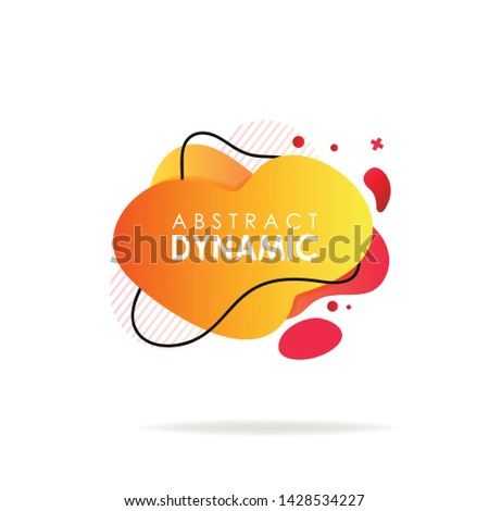 Yellow and red dynamical background. Dynamic effect. Futuristic technology style. Motion. Can be used for advertising, marketing, presentation