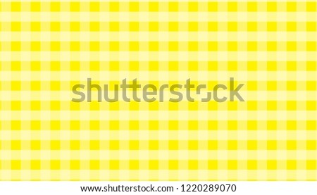 Yellow And White Tablecloth Gingham Checkered Background Vector  Illustration.eps 10