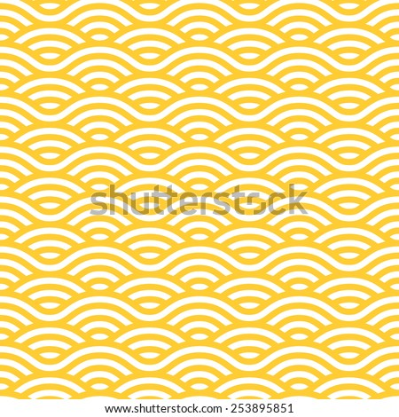yellow and white waves seamless