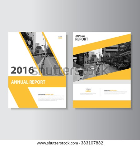 yellow annual report Leaflet Brochure Flyer template A4 size design, book cover layout design, Abstract yellow presentation templates
