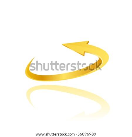 Yellow arrow. Vector