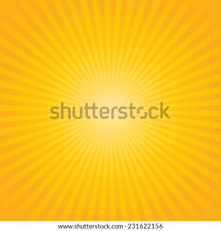 yellow background : sunburst vector