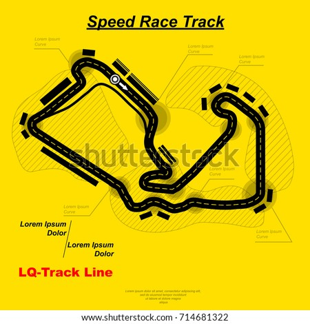 Yellow background with speed race background with map