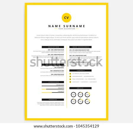 Curriculum Vitae Layout Templates  Download Free Vector Art Stock
