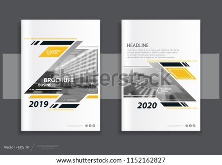 modern year report brochure design template download free vector