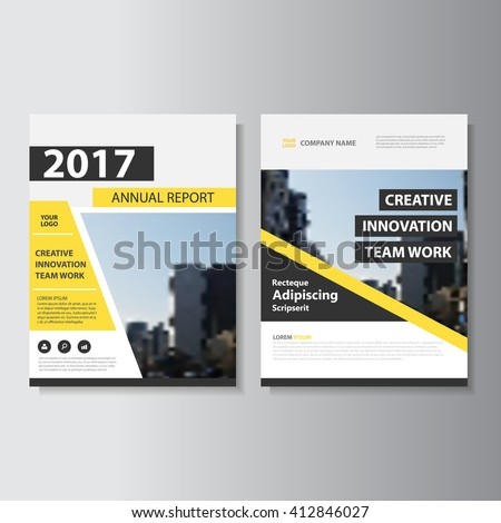 Yellow black Vector annual report Leaflet Brochure Flyer template design, book cover layout design, Abstract black yellow presentation templates