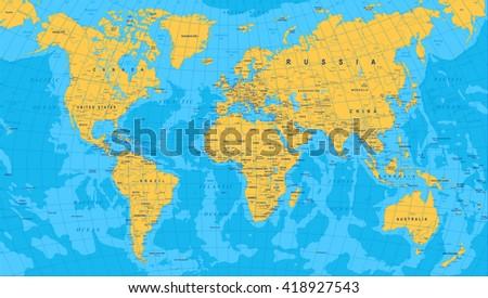Vector mapa de nueva zelanda con ciudades y regiones descargue yellow blue world map borders countries and cities illustration highly detailed colored vector gumiabroncs Gallery