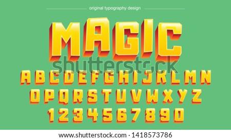 Yellow Bold Cartoon Typography Design