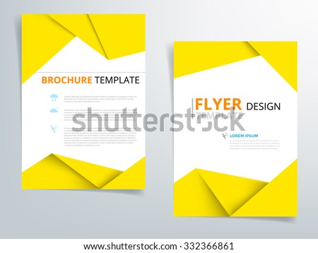 yellow brochure template flyer