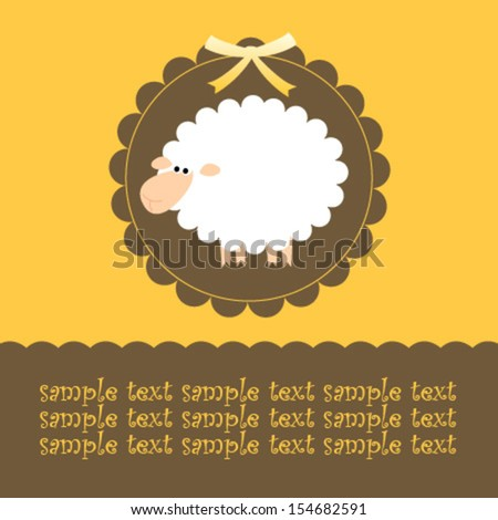 yellow brown sheep card