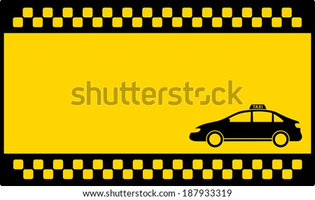 yellow cab background with space for text and cab