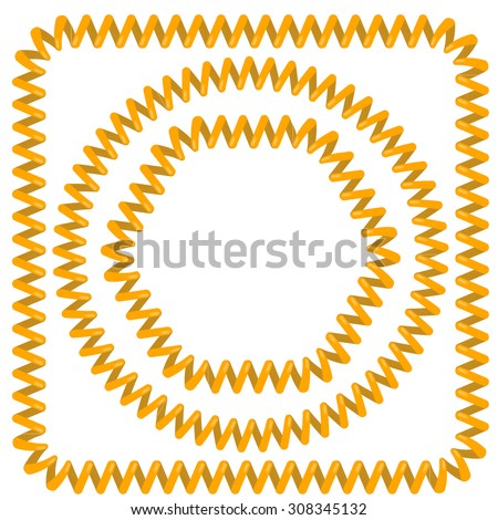 yellow cable vector  frames