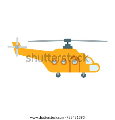 Yellow cargo helicopter