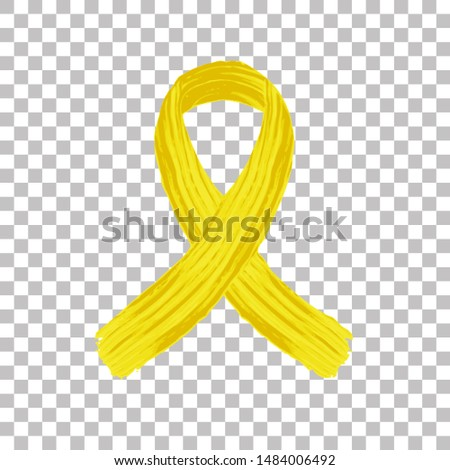 Yellow childhood cancer vector. Yellow childhood cancer day.Yellow childhood cancer badge