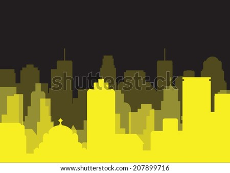 yellow city background