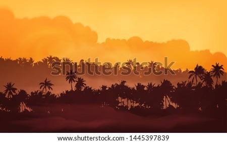 yellow clouds sunset sky asian