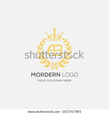 Yellow color AB Logo. AB letter design vector.