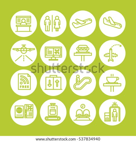 yellow color set of vector icon