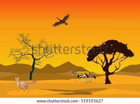 yellow colored desert landscape