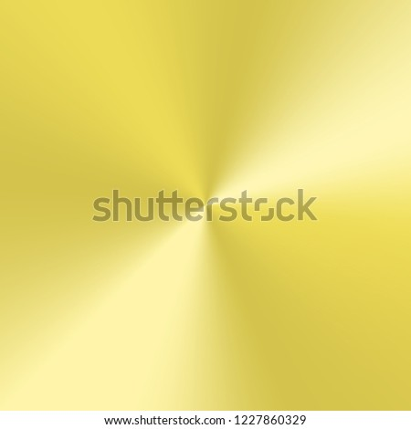Yellow conical gradient with metallic effect.