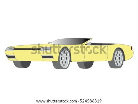 yellow convertible vector