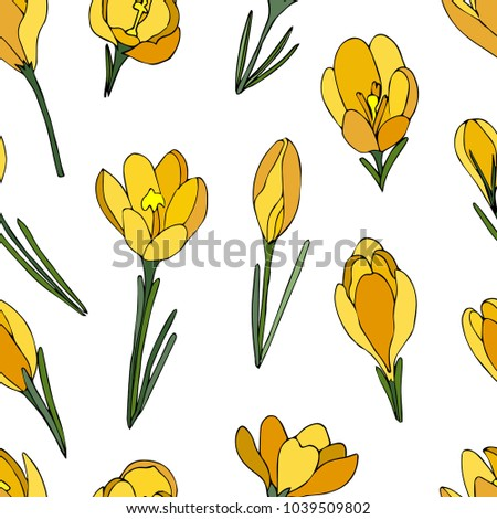 yellow crocus pattern