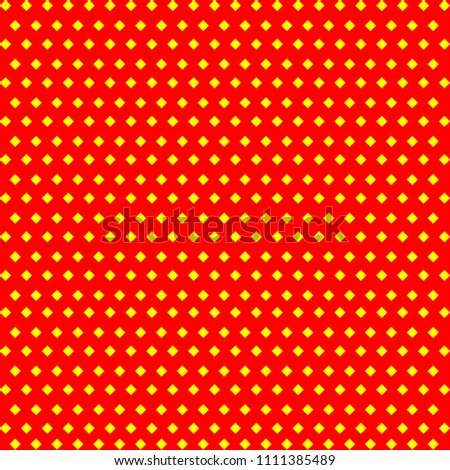 Stock Photo Yellow cubes pattern on red background. Vector.