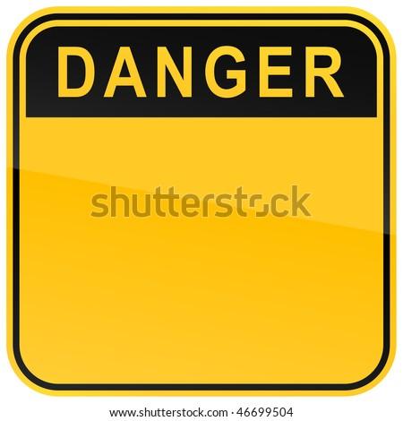Yellow danger blank warning Blank Danger Sign