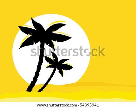 yellow desert sunrise